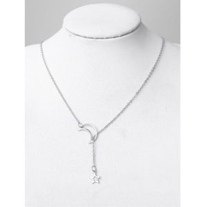 Jewelry - Silver Star and Moon Chain Necklace